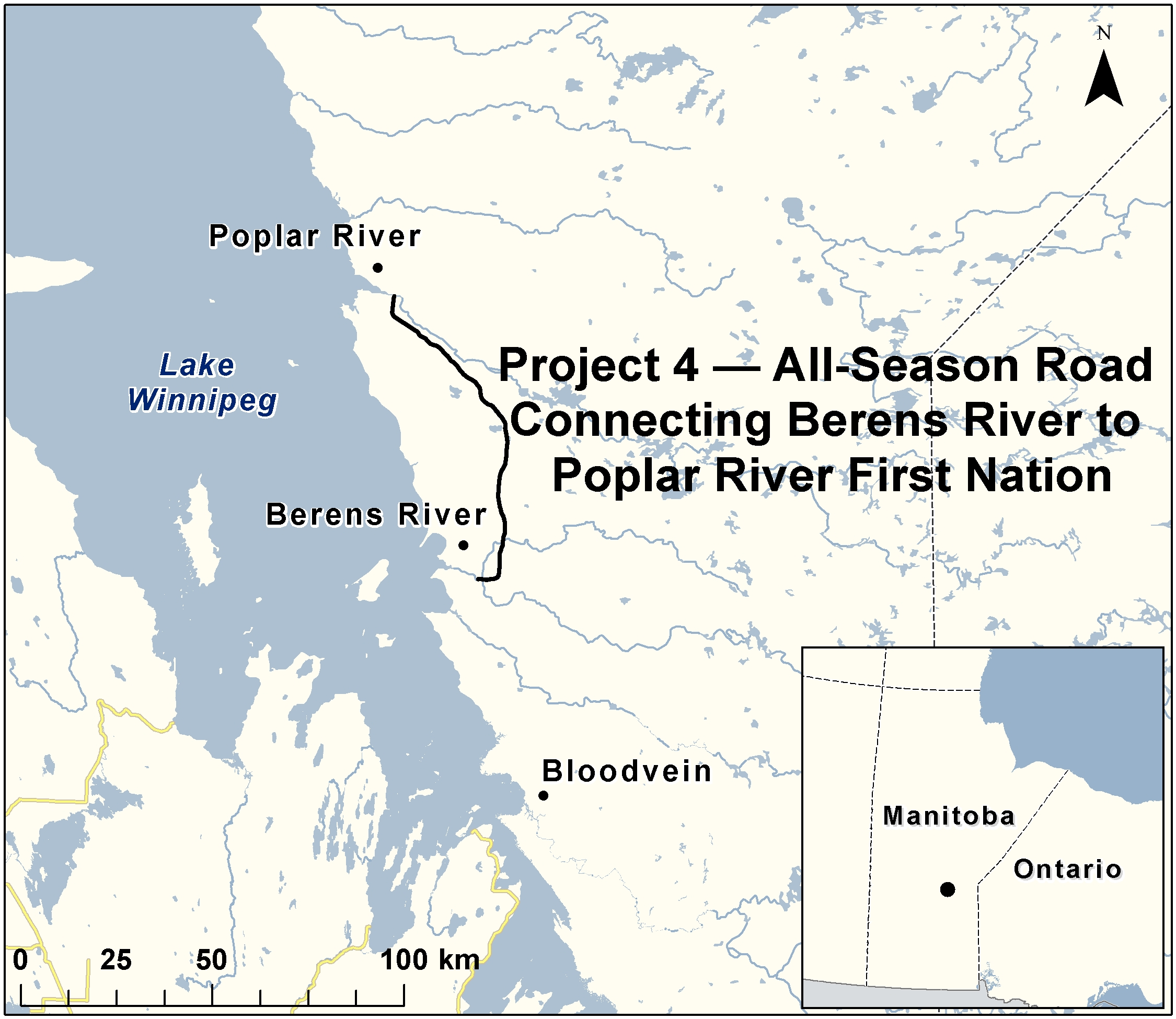 Project 4 AllSeason Road Connecting Berens River to Poplar River
