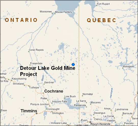 Mine Site Map Example: Canadian Environmental Assessment Agency